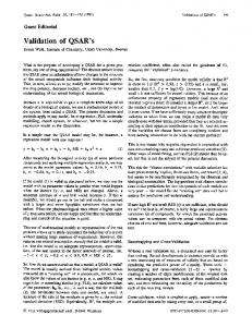 Validation of QSAR's - Wiley Online Library