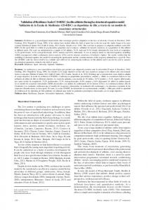 Validation of Resilience Scale (CD-RISC) in elite athletes ... - Recyt