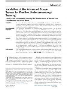 Validation of the Advanced Scope Trainer for Flexible ...