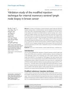 Validation study of the modified injection technique for ... - CiteSeerX