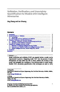 Validation, Verification, and Uncertainty Quantification ... - Springer Link