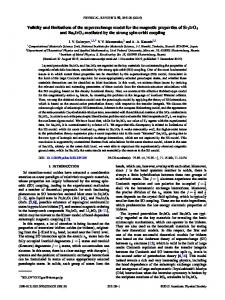 Validity and limitations of the superexchange model for the magnetic ...