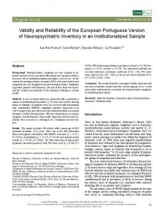 Validity and Reliability of the European ... - Semantic Scholar