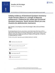 Validity evidence of Emotional Quotient Inventory