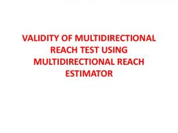 validity of multidirectional reach test using ...