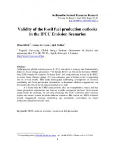 Validity of the fossil fuel production outlooks in the IPCC ... - CiteSeerX