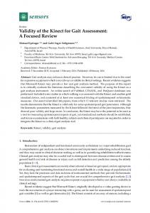 Validity of the Kinect for Gait Assessment: A ... - Semantic Scholar
