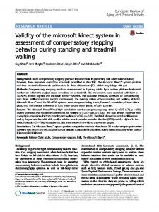 Validity of the microsoft kinect system in assessment of compensatory ...