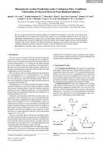 Valorization of Glycerol Derived from Biodiesel Industry - Springer Link