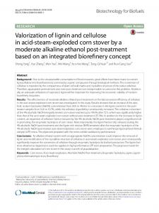 Valorization of lignin and cellulose in acid-steam