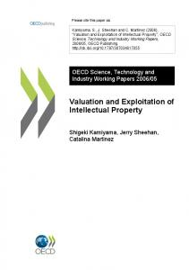 Valuation and Exploitation of Intellectual Property - OECD iLibrary