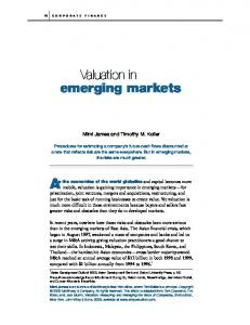 Valuation in emerging markets