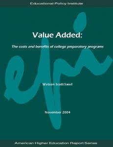 Value Added - Educational Policy Institute