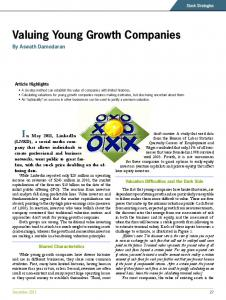 Valuing Young Growth Companies