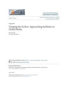 Vamping the Archive: Approaching Aesthetics in ... - ScholarlyCommons