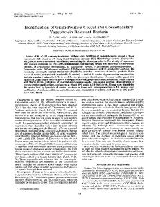Vancomycin-Resistant Bacteria - Journal of Clinical Microbiology