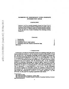 VANISHING OF COHOMOLOGY OVER COMPLETE INTERSECTION ...