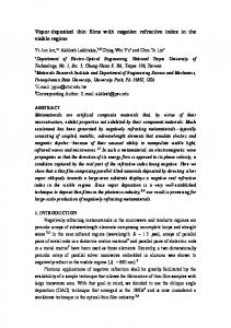 Vapor-deposited thin films with negative refractive index in the