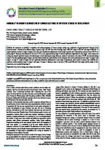 VARIABILITY IN GROWTH CHARACTERS OF ... - BioInfo Publication