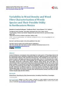 Variability in Wood Density and Wood Fibre Characterization of