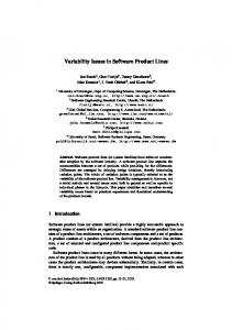 Variability Issues in Software Product Lines - Springer Link