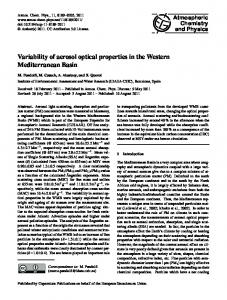 Variability of aerosol optical properties in the ... - Atmos. Chem. Phys