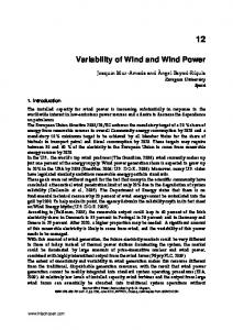Variability of Wind and Wind Power - InTechOpen