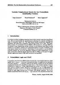 Variable Neighborhood Search for the Probabilistic Satisfiability