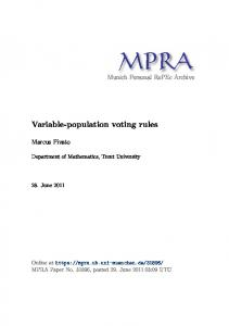 Variable-population voting rules - Munich Personal RePEc Archive