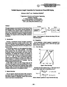 Variable Sequence Length Transmitter for Noncoherent ... - CiteSeerX