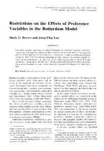 Variables in the Rotterdam Model - AgEcon Search