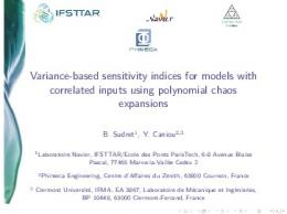 Variance-based sensitivity indices for models with ... - Blue Sky eLearn
