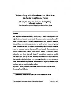 Variance Swap with Mean Reversion, Multifactor