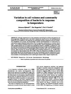 Variation in cell volume and community composition of bacteria in