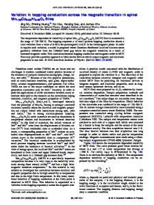 Variation in hopping conduction across the magnetic