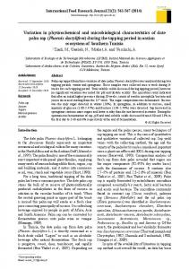 Variation in physicochemical and microbiological characteristics of ...