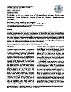 Variation in the Aggressiveness of Phytophthora infestans Pathotypes ...