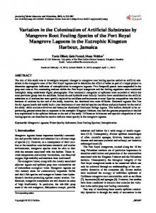 Variation in the Colonization of Artificial Substrates by ...
