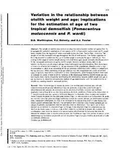 Variation in the relationship between otolith weight ...