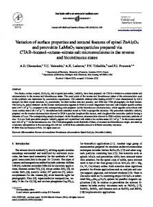 Variation of surface properties and textural ... - Semantic Scholar