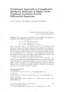 Variational Approach to Complicated Similarity