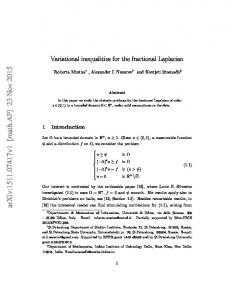 Variational inequalities for the fractional Laplacian