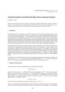 Variational model of martensitic thin films and its numerical treatment