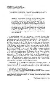 VARIETIES IN FINITE TRANSFORMATION GROUPS 1 ... - Project Euclid