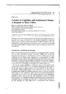 Varieties of Capitalism and Institutional Change: A ...