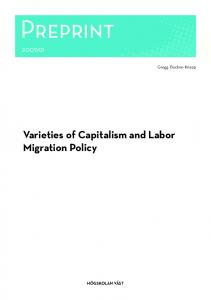 Varieties of Capitalism and Labor Migration Policy - DiVA portal