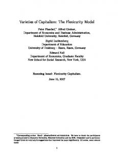 Varieties of Capitalism: The Flexicurity Model