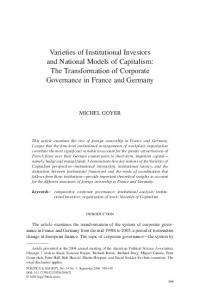 Varieties of Institutional Investors and National Models of Capitalism ...