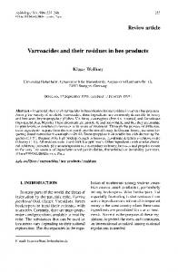 Varroacides and their residues in bee products