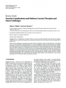 Vascular Complications and Diabetes: Current Therapies and Future ...